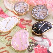 "▼SALE▼★L&A Original charm★Aliceの時計♪未来時計♪カラーチャーム★K16GP★""Time travel"""