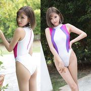 【即日出荷】白紫 レオタード セクシースクール水着 コスプレ衣装【7341】