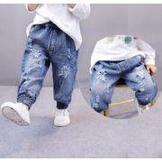 ダメージパンツ ボロボロ キッズ 男女兼用 定番 キッズジーンズ デニムパンツ ズボン