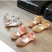 【子供靴】可愛いデザイン サンダル リボン付き 14.5-22.8cm シューズ 女の子 靴 キッズ