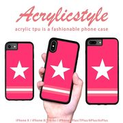 iPhone 7 8 X ケース 星 スター ヒーロー ピンク