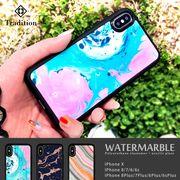耐衝撃 iPhone ケース iPhone8ケース スマホケース ブランド ウォーター マーブル 夏 ブランド
