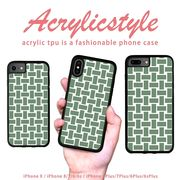 iPhone 7 8 X ケース 和柄 和風 渋い 緑色 竹