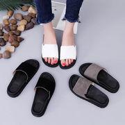 【海外買付】スエード調シャワーサンダル レザー調 コンフォートサンダル 履物 靴 シューズ軽量
