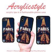 iPhone 7 8 X ケース パリ Paris モダン ロゴ 景色 写真