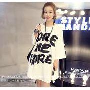 【大きいサイズXL-4XL】ファッションTシャツ♪ホワイト/ブラック2色展開◆