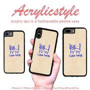 iPhone 7 8 X ケース アニマル 動物 猫 手書き風 落書き