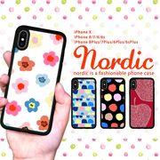 耐衝撃 iPhone ケース iPhone8ケース スマホケース 北欧 水彩 花柄 手描き ブランド