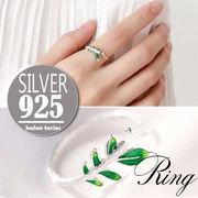 vnsh000069◆5000以上【送料無料】◆シルバー925リング◆指輪 リーフ 木の葉