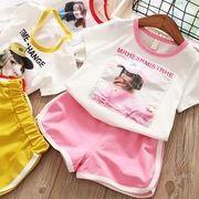 キッズ洋服 女児 夏服 韓国風 新しいデザイン レジャー セット 赤ちゃん 洋室 半袖T
