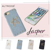 ゴールドスター 背面型 iPhoneケース [ジャスパー] / レディース iPhone6 iPhone7 iPhone8