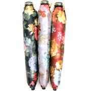 【日本製】【雨傘】【折りたたみ傘】つやつやサテンローズ柄転写プリント日本製軽量コンパクト折傘