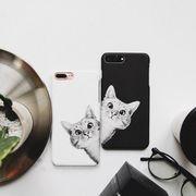 iphone 8ケース 携帯ケース カップルカバー 猫柄カバー