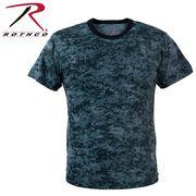 ROTHCO ロスコ 迷彩柄 半袖 Tシャツ ミッドナイトブルー・カモフラージュ柄 USA アメリカ直輸入
