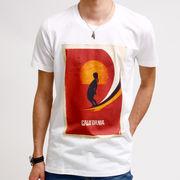 クルーネック プリントTシャツ