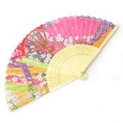 <ファッション雑貨><和雑貨・和土産>高級シルク扇子 和柄扇 ピンク No.504-337