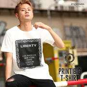 【improves】ロゴT BIGシルエットクルーネック半袖Tシャツ