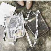 レディース バッグ ショルダーバッグ  透明 ボーダー コンパクト おしゃれ