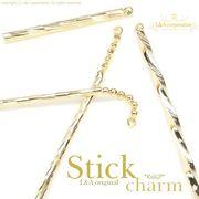 """★L&A original charm★スティックチャーム★美しきK16GP&本ロジウム★173 """"Gold Stick"""""""