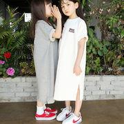 キッズワンピース ファッション 女の子 カジュアル ワンピース 半袖 ママ ムスメ 親子服