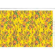 アカバナ柄紅型和紙(黄・金線)