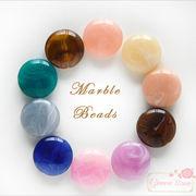 マーブルカラー♪ラウンド♪22mm★アクセサリー/材料/beads504