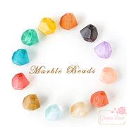 マーブルカラー♪多角形♪アクリルビーズ/ピアス/イヤリング/アクセサリー/材料/beads510
