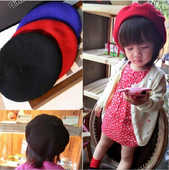 【自社工場】ベレー帽 子供ハット 可愛い帽子 秋冬 10色 キッズ用 新しいスタイル