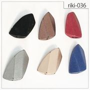 【riki-036】ブロック型 rikiビーズ マットメタル風 デザインビーズ モダンビーズ