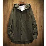 秋冬新作メンズコート ワイシャツ大きいサイズ キレイ目 シンプル♪カーキ/ブラック2色