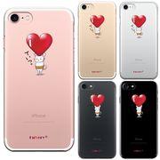 iPhone7 対応 アイフォン ハード クリアケース カバー シェル 猫 ネコ にゃんこ 腹巻 ハートは重い?