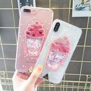 アイスクリームモチーフパーツ iPhoneケース用アクセサリーパーツ ラメが揺れ動くパーツ
