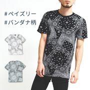 ペイズリープリントTシャツ