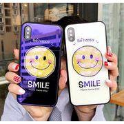 iPhoneケース スマイル 強化ガラス ニコちゃん iPhone6/6s iphone7/8