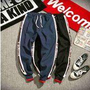 秋冬新作メンズパンツ ズボン大きいサイズ シンプル おしゃれ♪ブラック/ブルー2色