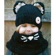 【新作★自社工場】ハット ベビー 赤ちゃん キッズ 帽子  男女兼用 ニット帽 2点セット