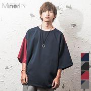 2018春夏新作★【Minority】マイノリティセレクト ビッグシルエットTシャツ/配色
