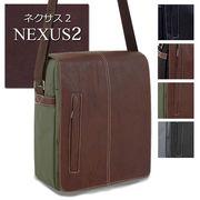 売れ筋の年間定番商品!カブセのみ合皮で軽量のメンズショルダーバッグ【NEXUS2-ネクサス2-】