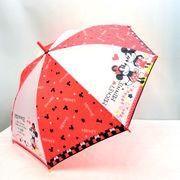 【雨傘】【ジュニア用】55cmミッキー&ミニーレッドハート柄ジャンプ傘