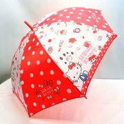 【雨傘】【ジュニア用】55cmハローキティライフアイテム柄ジャンプ傘