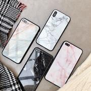 iPhone7/8+10XsMaxケース マーブル柄スマホケース ガラス携帯カバー