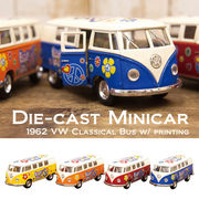 【1962 VW Classical Bus w/ printing (Ivory Top) 1:32(M)】ダイキャストミニカー12台セット★