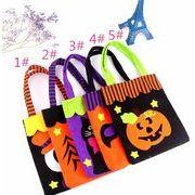 ハロウィン  道具 かぼちゃの袋 無紡布 ハンドバッグ お化けの日 幽霊 クモ キャンディ 贈り物 袋