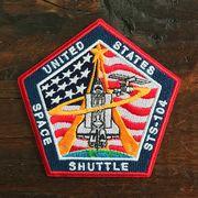 NASA公認ワッペン・アップリケ・スペースシャトルミッション・STS-104