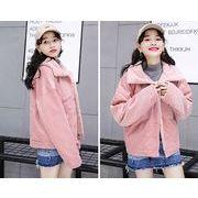 【秋冬新作】ファッションコート♪ブラウン/ピンク/ダークグリーン3色展開◆