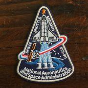 【予約販売】NASA公認ワッペン・アップリケ・スペースシャトルミッション・STS-111