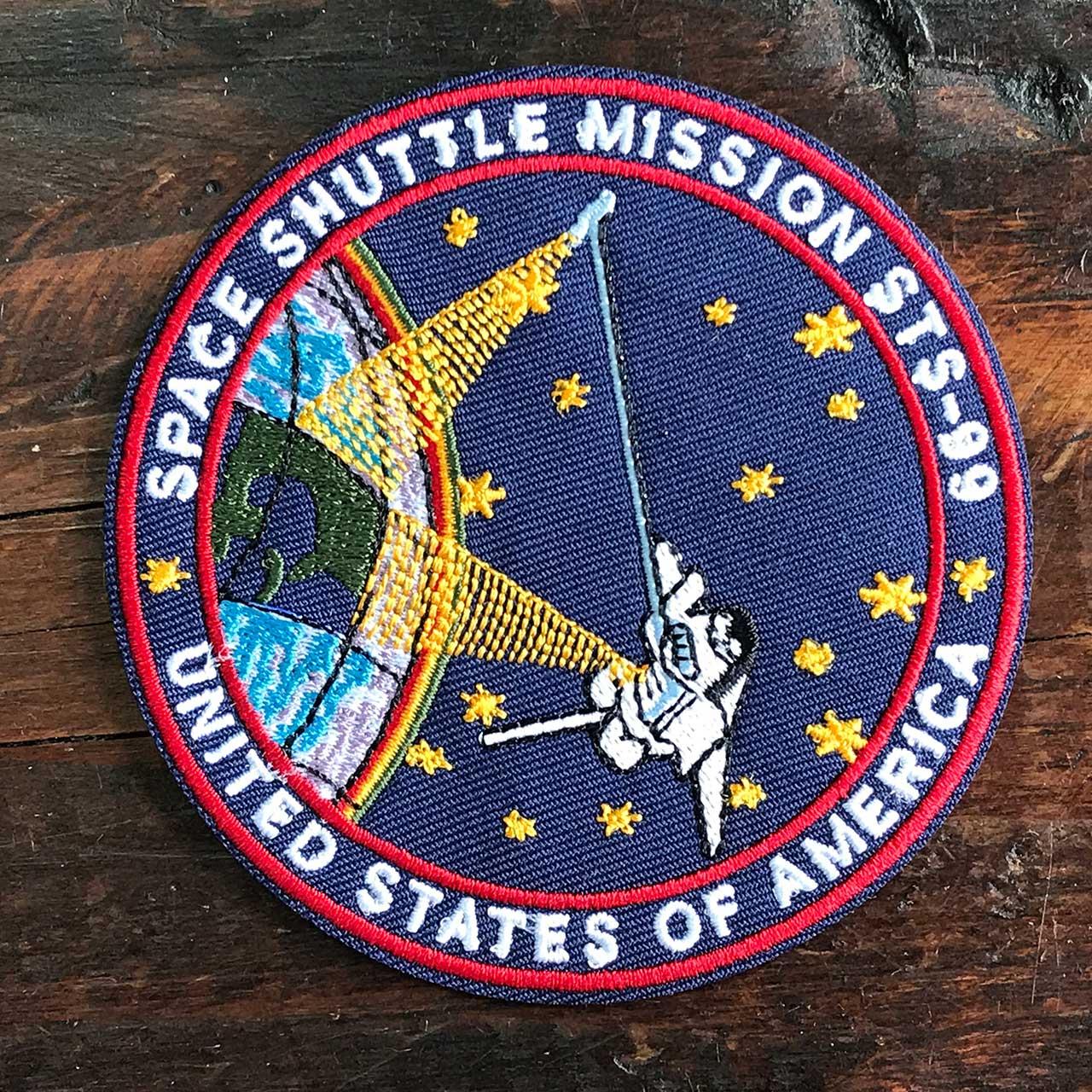 NASA公認ワッペン・アップリケ・スペースシャトルミッション・STS-99