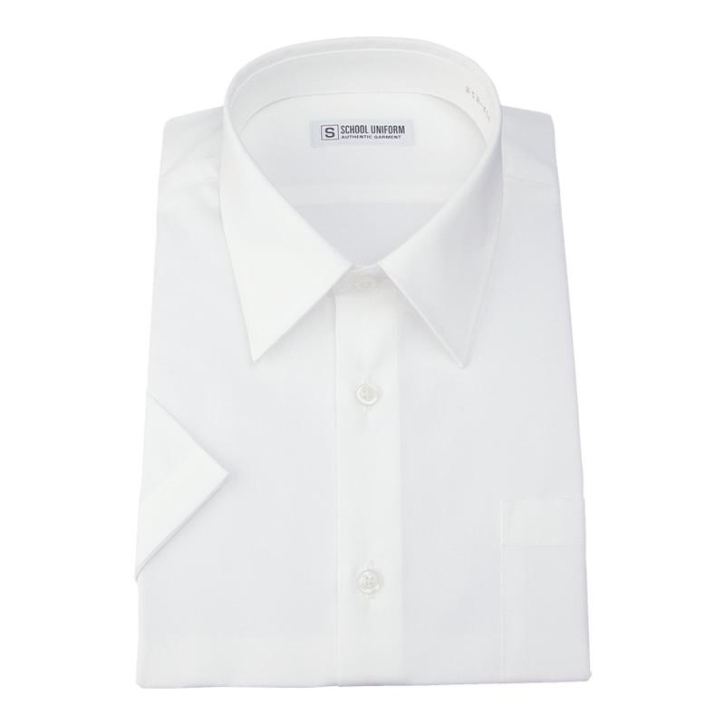 半袖スクールシャツ 男子 形態安定/防汚加工/抗菌防臭 白 110A-185A
