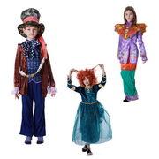 ハロウィン コスプレ 子供3種 不思議の国のアリス マッドハッター メリダ コスチューム qx10139-1