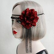 コスプレ 髪飾り 帽子 花 仮面舞踏会 ハロウィン 仮装パーティ 宴会